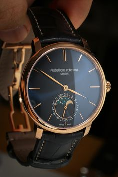 Elegant  Bold Empire // Frederique Constant Slimline Moonphase Watch | ©   Exquisite