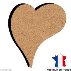 Compra nuestros productos a precios mini Corazón decorativo de madera 10 cm - Entrega rápida, gratuita a partir de 89 € !
