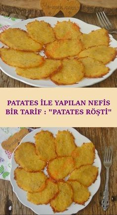 A completely different hot recipe (for those looking for different tastes): Potato Röşti - A great taste that you will serve as a side dish alongside the main dishes … - Healthy Vegan Snacks, Easy Healthy Recipes, Vegan Recipes, Easy Meals, Crock Pot Recipes, Turkish Recipes, C'est Bon, Main Dishes, Food And Drink