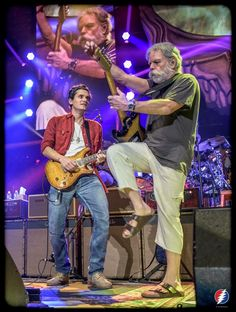 Still feeling the magic from this weekend with ! Love this moment captured by the incredible -- if you haven't heard these boys play together yet do your ears a favor and check out the stream from Saturday nights show Saturday Night Show, Grateful Dead Image, Bob Weir, Dead And Company, John Mayer, Boys Playing, My Favorite Music, Music Stuff, Rock And Roll