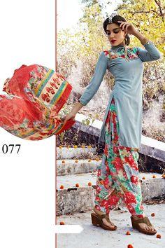 2ec29663cfea Grey Leon Crepe Dress Materials-11077 Latest Fashion Dresses