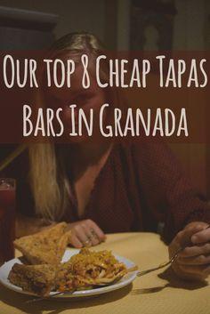Our top 8 cheap tapas bars in Granada