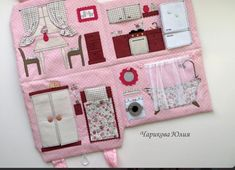 Small Sewing Projects, Sewing For Kids, Fabric Dolls, Paper Dolls, Baby Crafts, Diy And Crafts, Baby Toys, Kids Toys, Felt Doll House