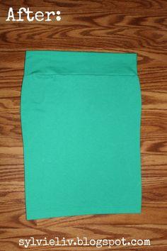 Tee Shirt to Pencil Skirt DIY Tutorial
