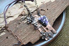 Copper pendante House with grapes от TanyaKolyada на Etsy