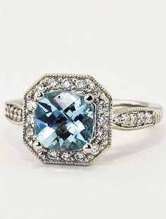 Saphire Diamond Ring - repinned by Los Angeles County, California celebrant https://OfficiantGuy.com
