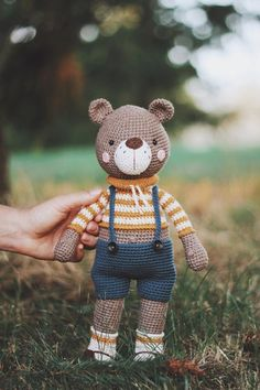 crochet bear patterns This is a crochet pattern PDF! Not the finished toy! -------------------------------------------------------- Language of the pattern - English Crochet terms Crochet Teddy Bear Pattern, Knitted Teddy Bear, Crochet Rabbit, Crochet Amigurumi Free Patterns, Crochet Animal Patterns, Crochet Geek, Crochet Toys, Bear Toy, Stuffed Toys Patterns