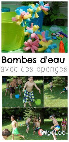 Si vous êtes comme moi, vous mettrez vos ballounes d'eau àla retraite immédiatement après avoir essayé les bombes d'eau glacée en éponge. C'est beaucoupbeaucoup plus simple à préparer et tout aussi, sinon plus amusant! #diy #piscine #party #bombe #activités #enfants