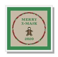 Merry X-Mask Christmas 2020 Cross stitch pattern PDF instant | Etsy Christmas In July, Christmas Cross, Funny Christmas, Funny Cross Stitch Patterns, Craft Supplies, Merry, Pdf, Fabric, Crafts