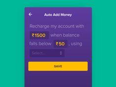 Auto add money