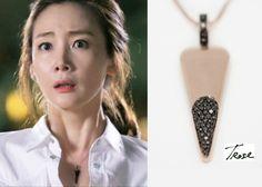 "Choi Ji-Woo 최지우 in ""Temptation"" Episode 1.  TRose 14K Rosegold Black Diamond Necklace #Kdrama #Temptation #유혹 #ChoiJiWoo"