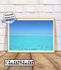 Strand Foto, druckbare Wandkunst, Strand Fotografie, moderne Küsten, große Poster, Strand Dekor, Blue und Aqua Meereswellen, sofort-Download