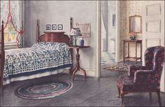 1920s colonial furniture | ... Bedroom - Colonial Style - Vintage Interior Design of the 1920s