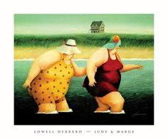 "Hmmm . . . looks like me and my sister.  (Sorry, Deb!)  It's really ""Judy and Marge"" by Lowell Herrero."