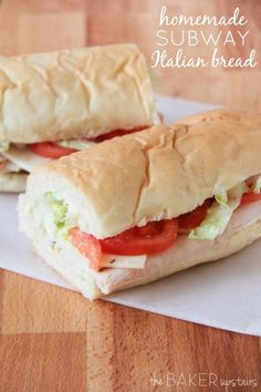Homemade Subway Italian Bread from The Baker Upstairs. Soft and flavorful, and so light and delicious! http://www.thebakerupstairs.com