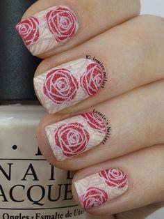 Roses #glamnailschallenge - Leonie's Nailart
