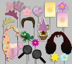 Rapunzel Tangled Party Photo Booth Props by IraJoJoBowtique