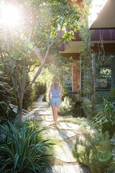 You could, for instance, create a flagstone and gravel walkway leading into a me. You could, for instance, create a flagstone and gravel walkway leading into a meditation and relaxation secluded spot de.