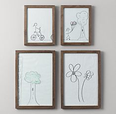 Distressed wood Frames | RH Baby & Child