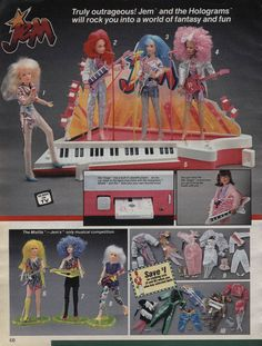 Jem and the Holograms, The Misfits, Sears Catalog page, 1986 - Con música real. ¡Genial!