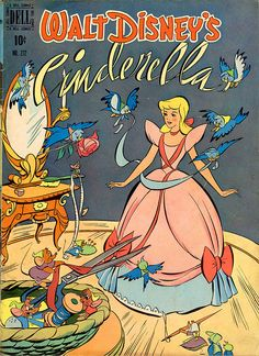 always bugged me that modern Disney illustrators have never been able to capture Cinderella the same way the original artists did. This, clearly, was illustrated by one of the original animators; her face has exactly the right proportions. Disney Vintage, Retro Disney, Disney Love, Disney Magic, Disney Art, Disney Pixar, Cinderella Disney, Modern Disney, Cinderella Movie 1950