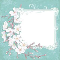 [フリーイラスト素材] イラスト, フレーム, 桜 / サクラ, 花, 植物, 春, EPS ID:201403202000