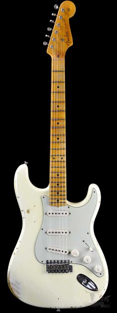 Fender 1956 Stratocaster Heavy Relic AA Flame Maple Neck Vintage White - Wild West Guitars