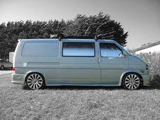 Vw Transporter Conversions, Volkswagen Transporter, Vw Bus, T4 Camper, Grey Vans, Busse, Car Car, Campervan, Van Life
