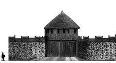 The South Gate of Dangerford. This is a double gate including a wooden guardhouse.   Dangerford south gate.PNG