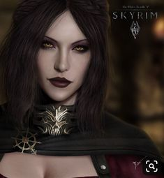 Serana Daugther of Lord Harkon and Valerica, The Elder Scrolls V: Skyrim Female Vampire, Elder Scrolls Art, Skyrim Art, Vampire Art, Character Portraits, Art, Vampire Girls, Fantasy Girl