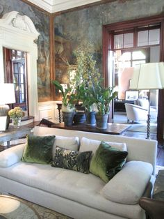 design indulgence: 2014 ASO DECORATORS' SHOW HOUSE | EXQUISITE! love the mural and well, everything!