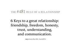 6 Keys To A Great Relationship