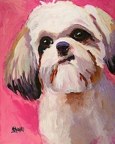 Shih Tzu Dog 8x10 signed art PRINT RJK painting    Collectibles, Animals, Dogs   eBay!