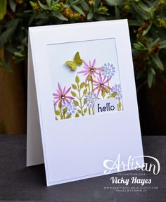 If it's wet outside you can always do a spot of gardening with Flower Patch from Stampin' Up!
