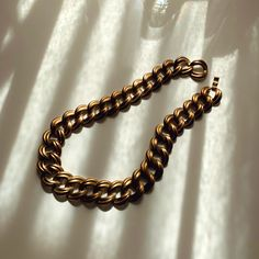 Vintage Antique Gold-tone Chunky Chain link 45 cm length Vintage Antiques, Vintage Items, Antique Gold, Chain, Link, Bracelets, Jewelry, Living Room, Jewlery