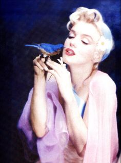 Marilyn Monroe w/blue bird.