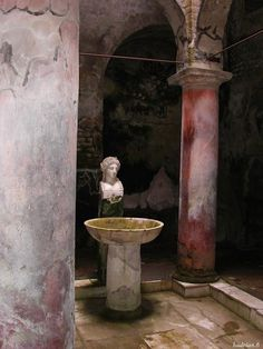 Ruins of the Bath at Herculaneum, Italy.