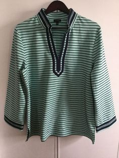 Womens TALBOTS Striped French Terry Knit Pullover Shirt Size XL #Talbots #KnitTop #Casual