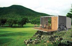 BARK all terrain #cabin, bark, canadian design, prefab, off grid #container #architecture