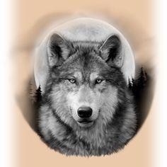 Timber Wolf Moon by BlindDog Tattoo « blinddogblog.com