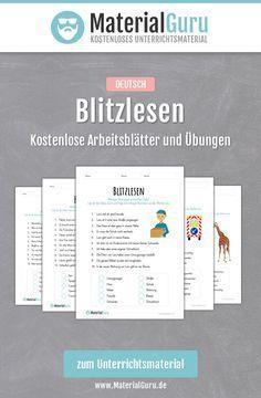 Kostenlose Arbeitsblätter und Übungen zum Thema Blitzlesen für Kinder an der Grundschule. Jetzt gratis downloaden!