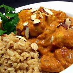 Chicken Korma is an Indian recipe that can be easily made at home. This version is a mild North Indian style and is usually served with pilau rice and naan. North Indian Recipes, Indian Food Recipes, Ethnic Recipes, Entree Recipes, Coconut Milk Chicken, Butter Chicken, Chicken Korma Recipe, Chicken Recipes, Chicken Curry