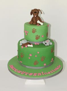 puppy cakes for kids - change colors
