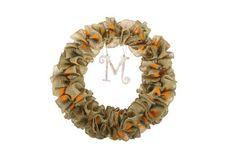 Burlap Dotted Wreath