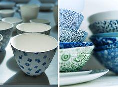 Eucalypt Homewares. Transfers Japanese papers to ceramics