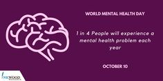 Today is Let's take action to promote in the Mental Health Day, Mental Health Problems, International Days, Workplace, Action, Let It Be, Group Action
