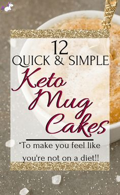 These keto mug cakes will help you stay in ketosis & satisfy your sweet tooth easily with recipes from keto cinnamon roll mug cake to keto vanilla mug cake! Low Carb Meal Plan, Low Carb Lunch, Low Carb Dinner Recipes, Low Carb Desserts, Keto Recipes, Ketogenic Recipes, Lunch Recipes, Easy Recipes, Healthy Recipes
