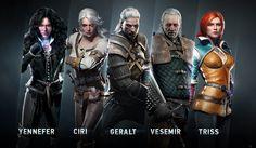 The witcher 3. De los mismos personajes hay diferentes trajes. Es un videojuego para pc y esta basado en unos libros.