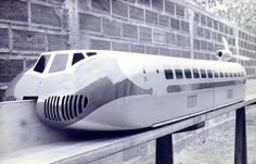 The Aérotrain, early concept model, 1962