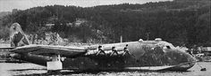 BV-222 V2 Viking - Far maritime reconnaissance and patrol aircraft, also used as a transport. BV-222 V2 Viking was captured by the British in Trondheim. In this picture he is shown with English already identifying marks. It is the largest aircraft of the Luftwaffe, captured by the Allies.     Location: Trondheim, Norwa